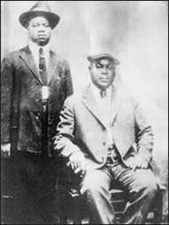 Louis Armstrong and Joe 'King' Oliver