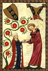 از تصاویر نسخه خطی Carmina Burana