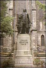 J.S Bach statue