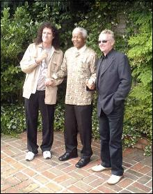 Brian May , Nelson Mandela , Roger Taylor