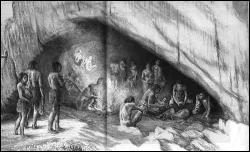 Neandertals in cave