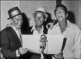 Frank Sinatra, Bing Cosby and Dean Martin