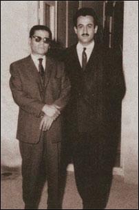 حسین تهرانی در کنار شاگردش محمد اسماعیلی