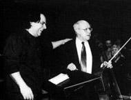 Rahbari and Mitislav Rostropovich