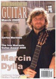 تصویر مارسین دیلا روی جلد مجله گیتار کلاسیک