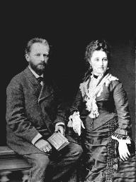 چايكوفسكي و همسرش آنتونینا ایوانوونا میلوکوا