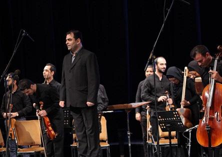 امیرآهنگ در اجرای ارکستر مجلسی ملی بنیاد رودکی