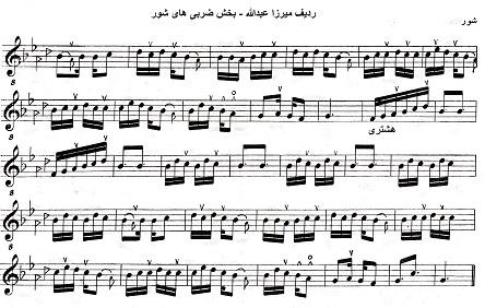 بخش سوم از ضربی گریلی (هشتری یا اشتری) از ردیف میرزا عبدالله